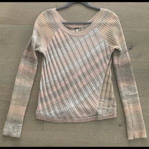 Free People Cotton Crewneck Sweater M